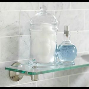 "SOLD—POTTERY BARN Mercer Glass Shelf, 18"" - NEW"